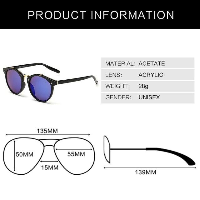 Luxury Cat Eye Sunglasses Women Men Brand Designer Vintage Round Sun Glasses For Women Female Ladies Sunglass Mirror UV400 gafas 2