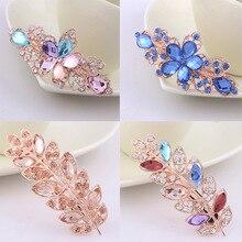 Barrettes New fashion Crystal diamond spring Horsetail hair clips women hair accessories Ladies' headband flower crown Headwear