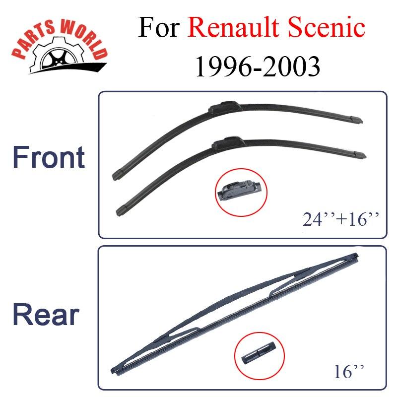 Balais d'essuie-glace pour Renault Scenic 1996-2003 pare-brise en caoutchouc pare-brise avant et arrière essuie-glaces accessoires de voiture Auto
