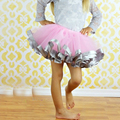 2016 Voile Fluffy Little Baby Girl Tutu Skirt With Satin Ribbon Trim Sewn Puffy Baby Tutu Skirt for 0-7 years old Free Shipping
