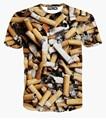 Cigarros nova moda das mulheres dos homens t shirt impressão 3d t shirt smoking roupas de verão harajuku t shrits Unisex encabeça
