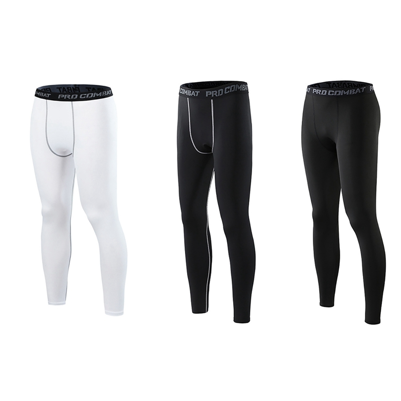 Men's Pants Anti-sweat Elastic Quick Drying Sports Running Fitness Training Tights Trousers