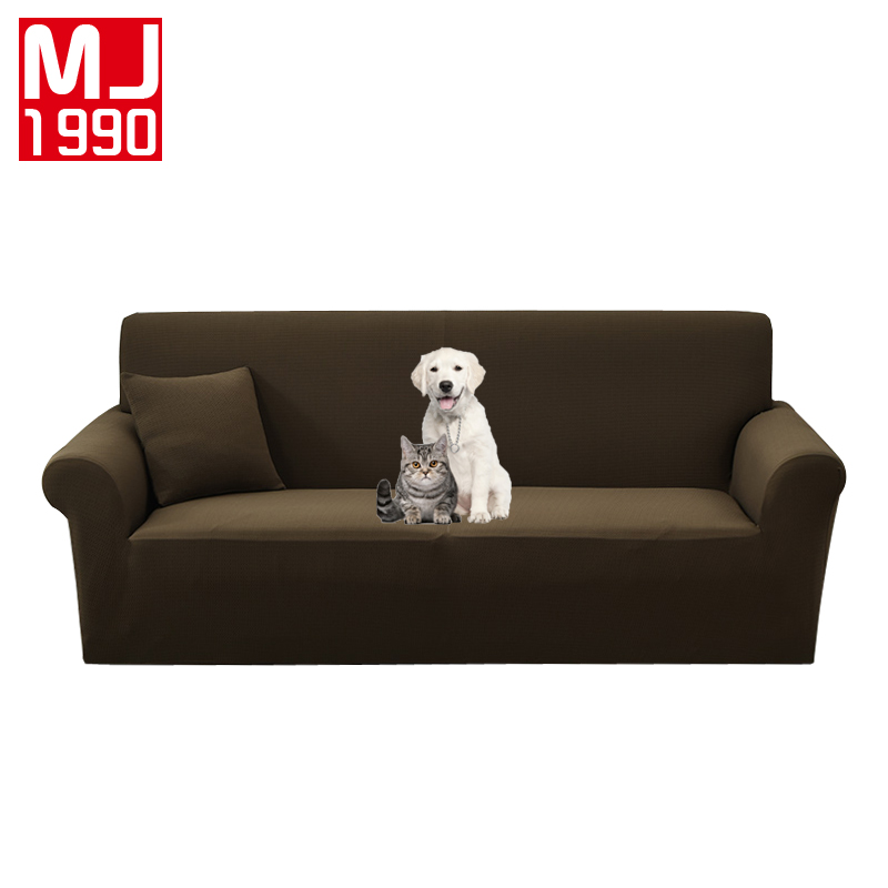 Non Slip Anti Bite Elastic Waterproof Double Sofa Covers Furniture Protector  For Armchair Love Seat Sofa Slipcovers For Dogs Pet