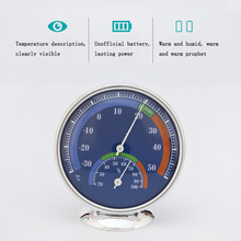 Hot-sleeve radial bimetal thermometer and hygrometer indoor and outdoor temperature and humidity meter multi-purpose цена