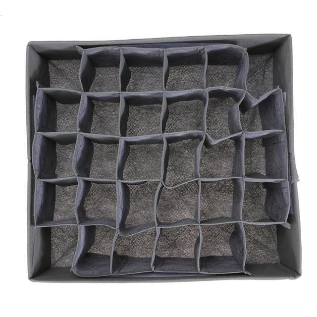 30 Cell Foldable Drawer Organizer Underwear Bra Scarfs Socks Organizer Bamboo Box Bamboo Charcoal Clothes Storage Box 4