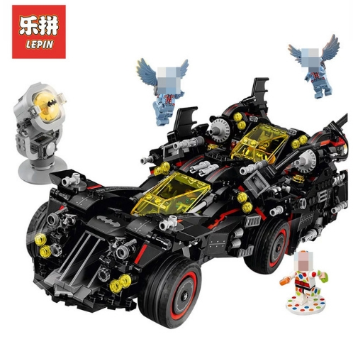 Lepin 07077 1496Pcs Genuine Batman Movie Series The Ultimate Batmobile Set Educational Building Block Bricks Toys Model 70917 1496pcs new super heroes batman the ultimate batmobile set 07077 diy model building blocks toys brick moive compatible with lego