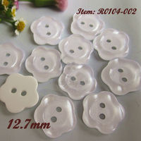 480pcs 980pcs 12 5mm 1 2 Plum Flower White Pearlescent Sewing Buttons For Decoration Craft Diy