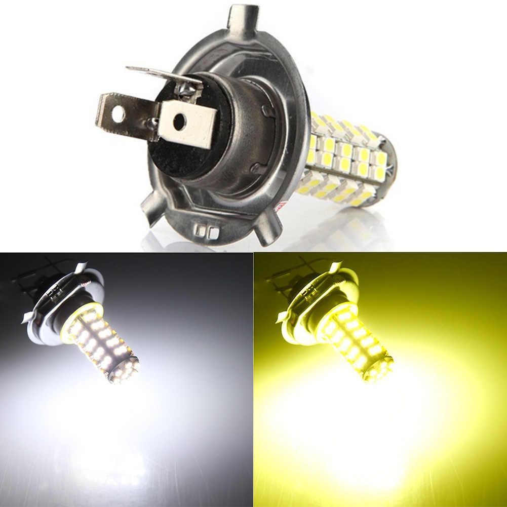 Car Auto H4 3.5W 68-SMD LED 6500K 310-Lumen White Fog Light Driving Headlight Lamp Bulb