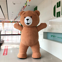 Newest Style 3M Tall Inflatable Teddy Bear Costume For Advertising Customize Suitable For 1.7m To 1.85m Adult Cosplay Costume