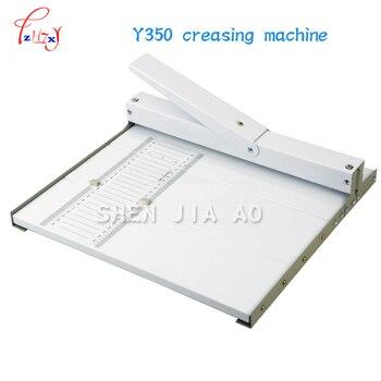 Y350 papier rillen maschine Manuelle Papier Falten Maschine Papier Reibe für Schlitz Länge 350mm/A3 + papier creaser|Bindemaschine|Computer und Büro -