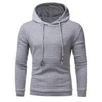 The North Of Sportswear Men Solid Casual Cotton Slim Hoodie Men Drawstring Oblique Zipper Cardigan Hooded