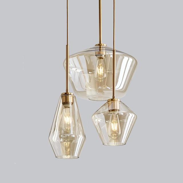 Modern Led Pendant Lights For Dining Room Gl Metal E27 Indoor Hanging Lamps Lighting Fixtures