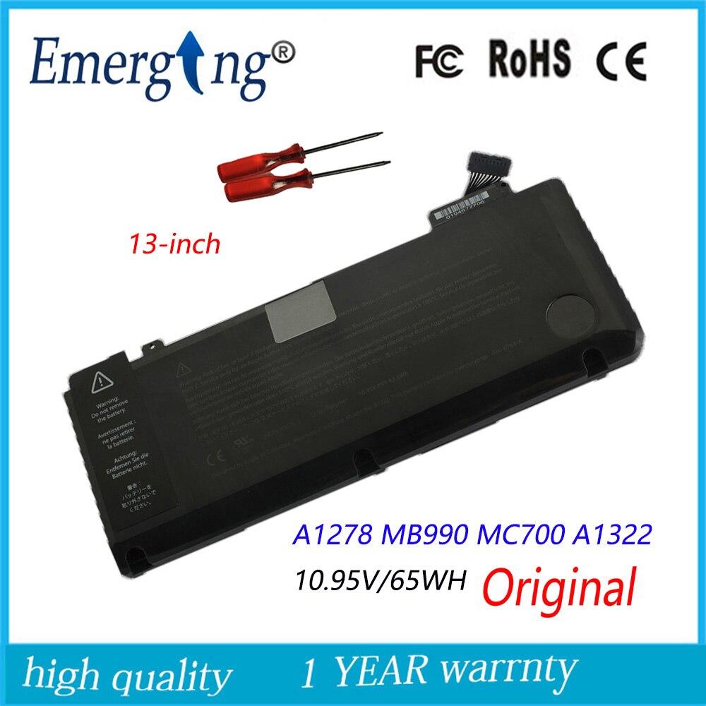 цена на 10.95v 63.5Wh New Original A1331 Laptop Battery for Apple MacBook Pro 13