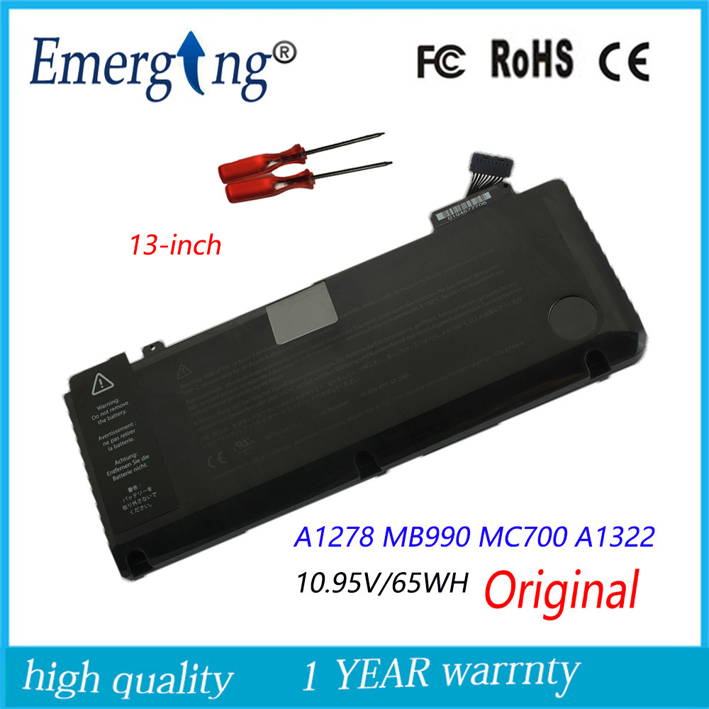 10.95v 63.5Wh New Original A1331 Laptop Battery for Apple MacBook Pro 13 A1342 Late 2009 ...