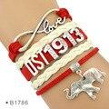 (30 PCS/lot) Infinity Love Delta Sigma Theta 1913 Wrap Bracelet DST Gift for Members Jewelry  Bracelet Drop Shipping
