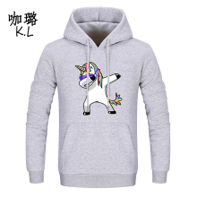 Oversized 2017 Winter Autumn Women Pullover Unicorn Sweatshirt Hooded Cartoon Tumblr Kawaii Thicken Warm Harajuku Large Size