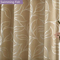 Hot Selling Custom Made Generous Thicking Chenille Fabric Silver Floral Jacquard Blackout Curtain Drape For Bedroom Window Blind