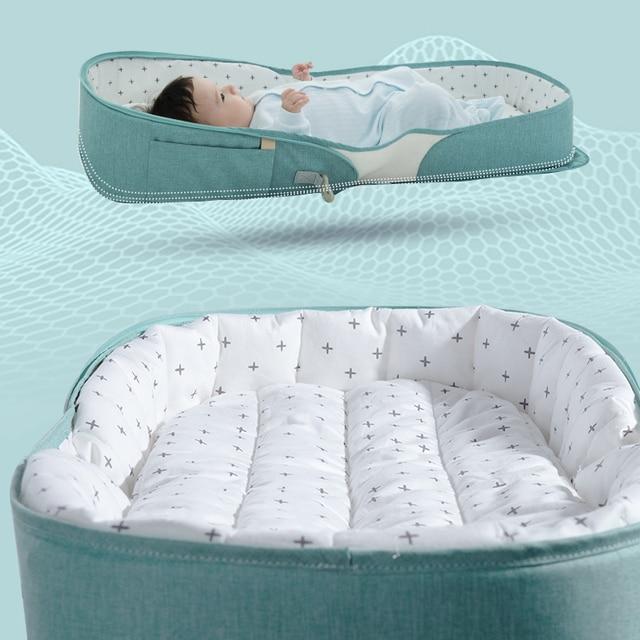 حقيبة سرير محمولة للأطفال من SUNVENO سرير قابل للطي للسفر لحديثي الولادة حقيبة حفاضات للأطفال 0-6 متر 4