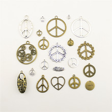 10pcs Fashion Jewelry Making Peace Sign Symbol Jewelry Findings Components Charm Pendant(China)