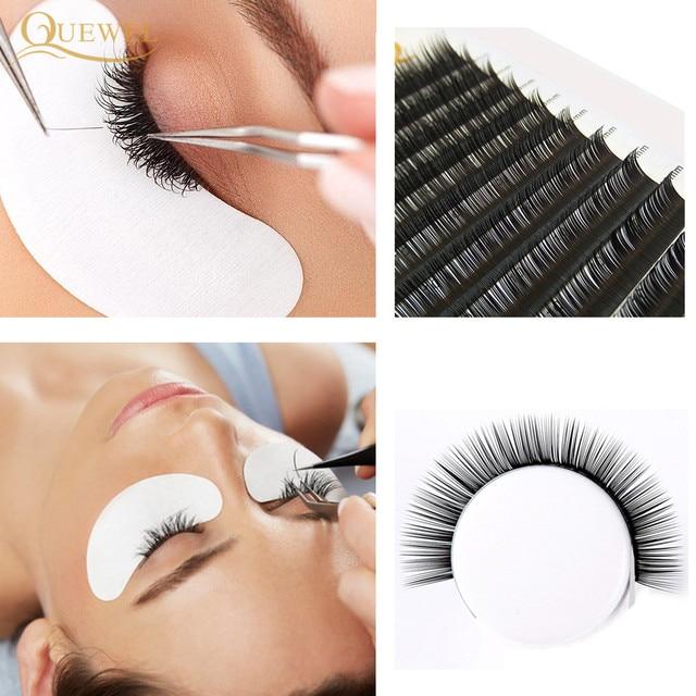 Quewel Flat Lashes Extension For Professionals Ellipse Flat Lash Split Tip profession Soft Silk Quewel Flat Eyelash C/D Curl 6