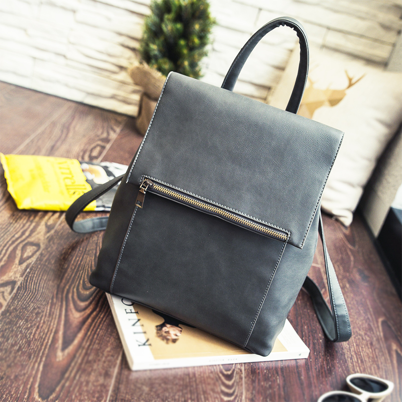 women leather backpacks female school bags for teenagers girls minimalist high quality feminine backpack sac a dos femme dida bear brand quality women leather backpacks female school bags for girls rucksack small drawstring bagpack sac a dos gray