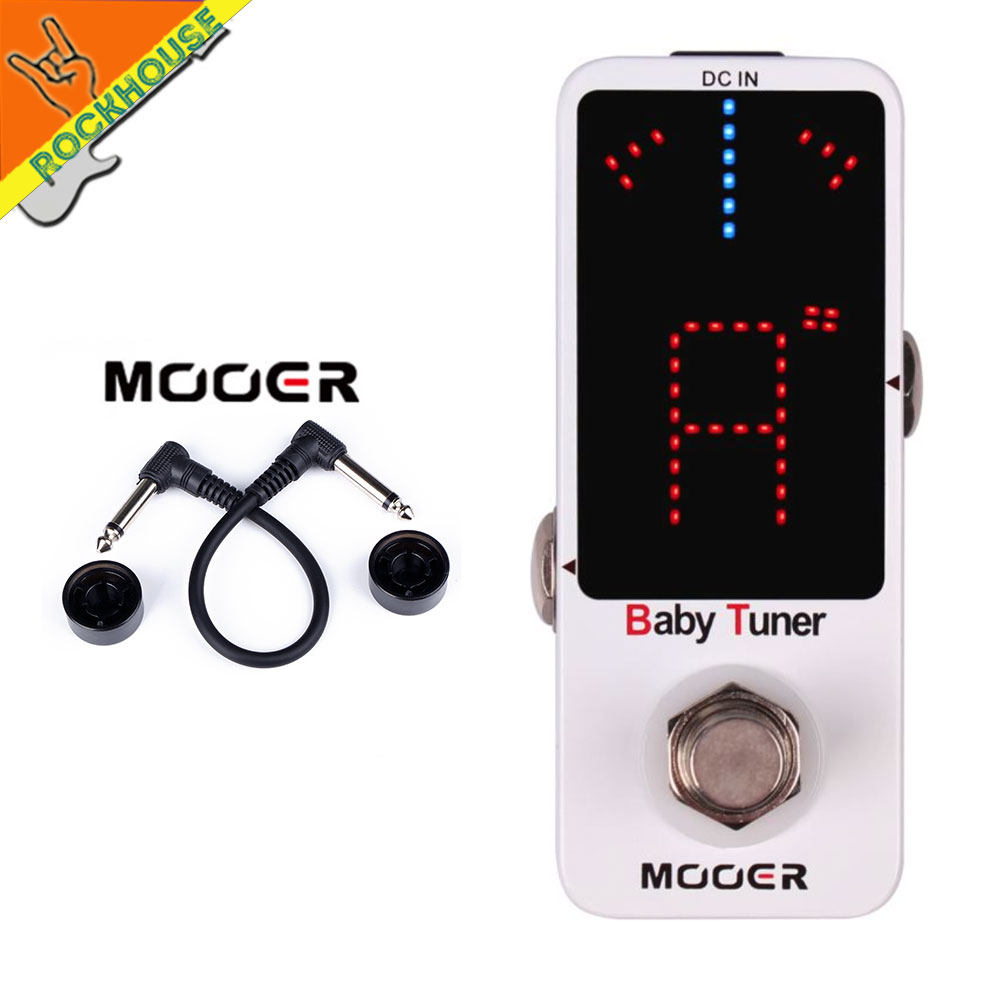 MOOER Baby Tuner Guitar Effects Pedal Mini Guitar Bass Tuner Pedal High Sensitivity and Precision 108 LED visible True Bypass