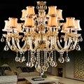 Большие люстры для столовой  спальни  кухни  гостиной  lustre led 15 Arms Crystal lustre de cristal para sala de jantar