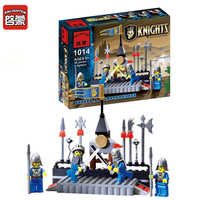 88Pcs ENLIGHTEN 1014 Knights Castle Series Soldiers Arena Figure Blocks Christmas Gift Building Bricks Toys For Children