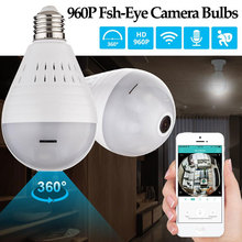 Security Camera System WiFi Fisheye Bulb Lamp IP Camera 360 Degree Burglar LED Light 960P Wireless Panoramic Home Security
