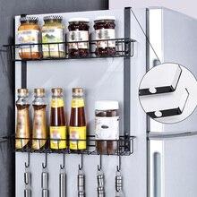 Rack de armazenamento prateleira armário organizador cozinha casa cesta prático bancada armário economia espaço geladeira pendurado
