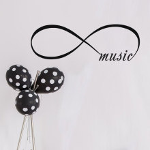Wall Decals Infinity Symbol Bedroom Vinyl Sticker Home Decor Music Loop Quote Living Room Decoration LV17