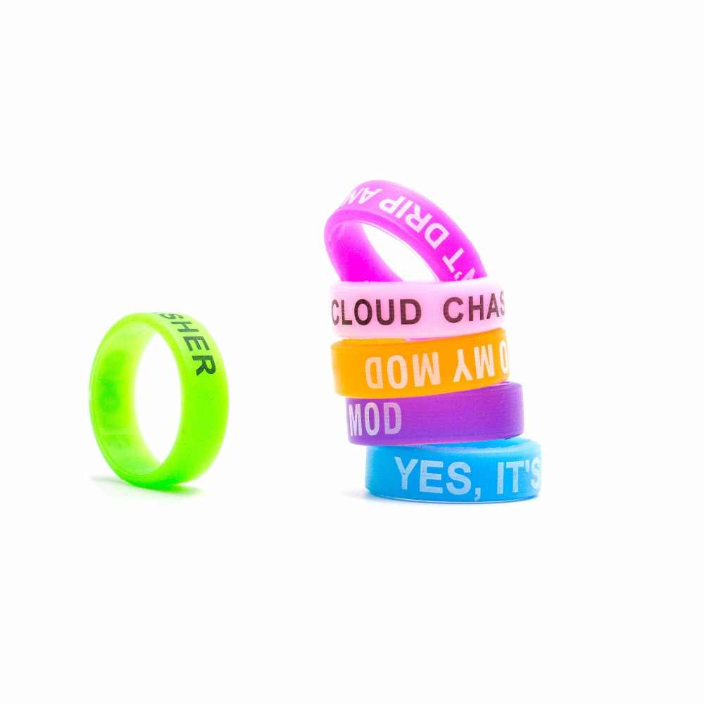 Volcanee Vape It Decoration Band Words Silicone Ring for 22mm Atomizers Electronic Cigarettes Accessories DIY (10pcs/lot)