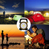 15W COB LED Portable Floodlight 18650 Waterproof Solar Energy USB Emergency Spotlight Lamp For Working Camping