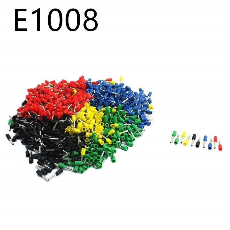 Embout /à sertir 100pcs 6mm jaune double bootlace embout de cordon isol/é