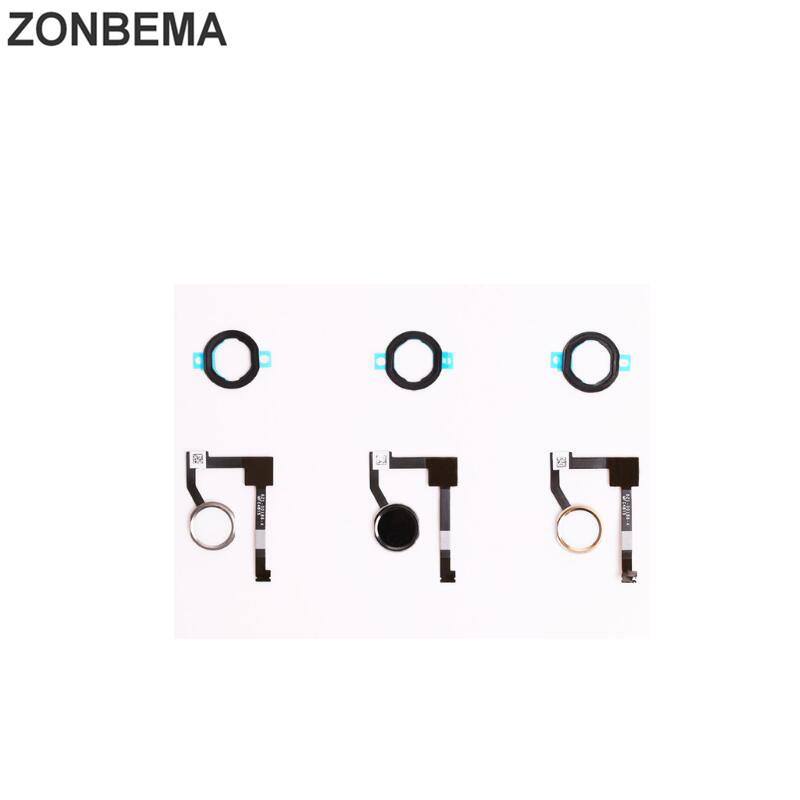 ZONBEMA 50pcs lot High quality New For iPad mini 4 Home button Keypad Flex Cable assembly