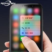 Tam Kapak Mat Temperli Cam iPhone X XS Ekran Koruyucu Oleofobik Kaplama Parmak Izi Buzlu 9 H Sertleştirilmiş Cam