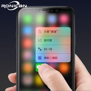 Image 1 - Tam Kapak Mat Temperli Cam iPhone X XS Ekran Koruyucu Oleofobik Kaplama Parmak Izi Buzlu 9 H Sertleştirilmiş Cam