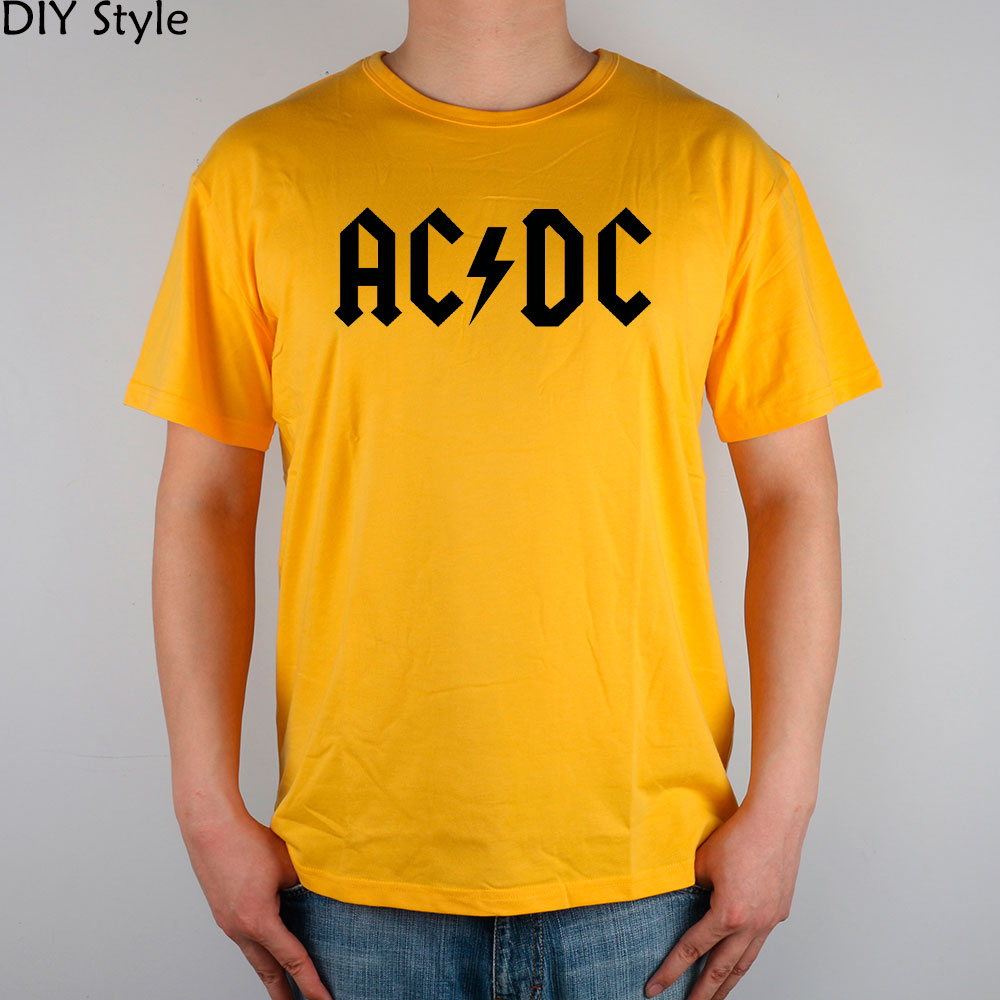 Flash rock n roll ac dc t shirt top lycra cotton men t for Dc t shirt design