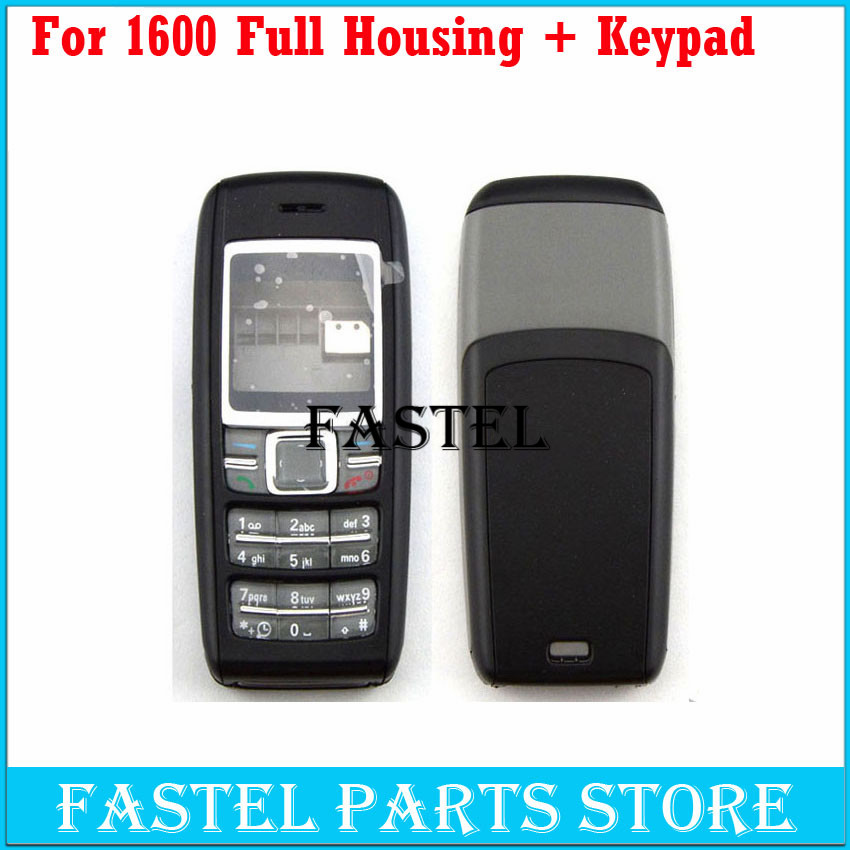 For Nokia 1600 High Quality New Full Complete Mobile Phone Housing Cover Case +  Keypad Free Shipping