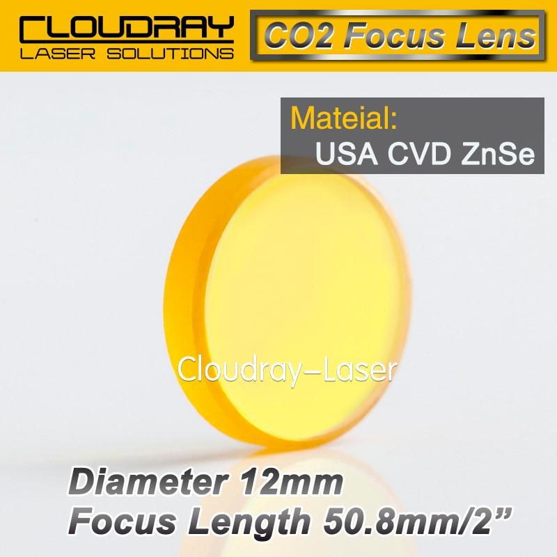 USA CVD ZnSe Focus Lens Dia. 12mm FL 50.8mm 2
