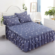 Belia Cross-border Bed Cover Aloe Cotton Single Side Skirt Korean Princess Wholesale Three-piece Set