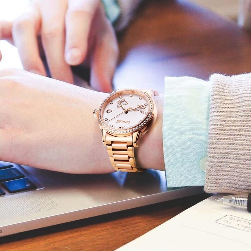 fdbb51d60d2c OYALIE Vlinder Vrouwelijke Klok Vrouwen Horloges Rose Gold Stalen Band  Automatische Mechanische Horloge Dameshorloge reloj mujer 9775 in OYALIE  Vlinder ...