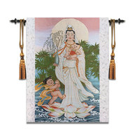 77*97Buddhism Guanyin Wall Tapestry Belgium Wall Carpet Moroccan Decor Home Decoration Wall Hanging Decorative Tapestries Fabric