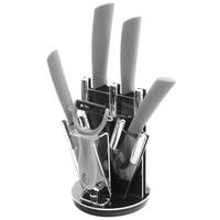 Negro Lámina de Cerámica del Cuchillo del Cocinero de 6 Pulgadas Utilidad de Fruta de 5 Pulgadas 4 Pulgadas 3 Pulgadas Cuchillo Cuchillo de Cocina, Cuchillo pelador + Holder Cocina Herramientas