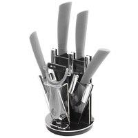 Ceramic Knife Set 6 Inch Chef 5 Inch Slicing 4 Inch Utility 3 Paring Knife A