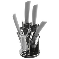 Ceramic Knife Set 6 Inch Chef 5 Inch Slicing 4 Inch Utility 3 Paring Knife A