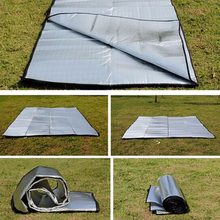 Double Sided Foldable Waterproof Aluminum Foil Mat Portable Outdoor Travel Beach Mat Sleeping Mattress for Camping Hiking Hot(China)