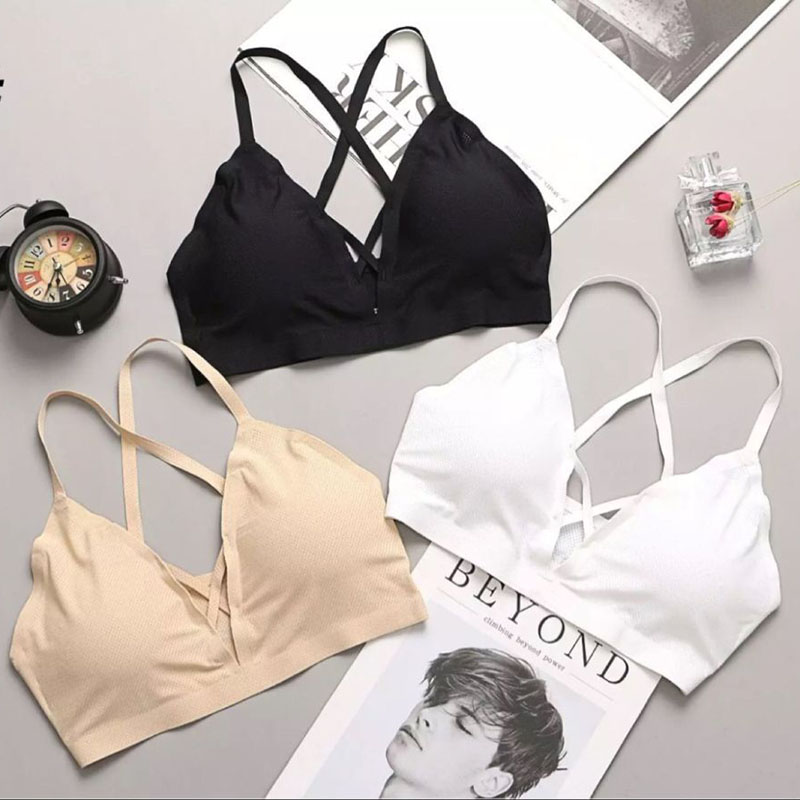 SP&CITY Bandage Design Seamless Breathable Silicone Bra Summer Women Camisole Suspenders Chest Solid Female Underwear Lingerie