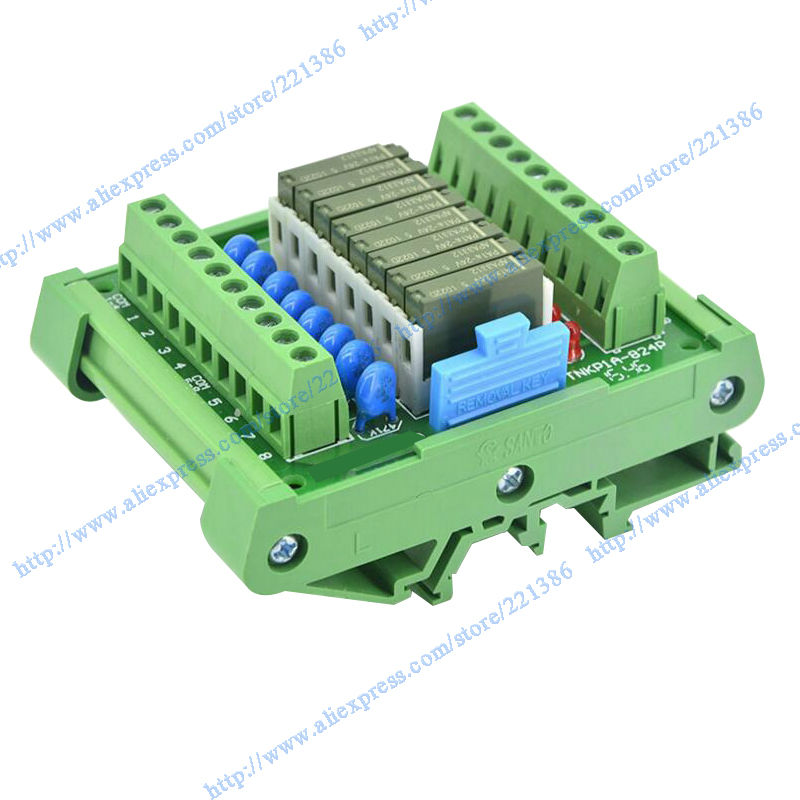 8 channels 24V 5A Pa1a relay Module driver board output amplifier board PLC board relay 24V