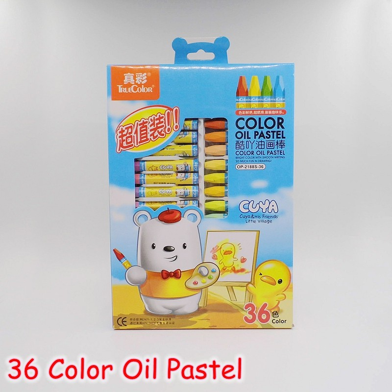 [TrueColor] 12/18/24/36 Colors Oil Pastel Crayons Pencils For Drawing School Stationery Cartoon Children Gift Set OP-2188  цены